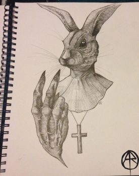 Rabbitpriest by Abaddondesign