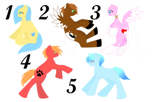 MLP Point Adoptables (Closed) by Rising-At-Midnight