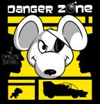 Danger Zone yellow by SwanStarDesigns