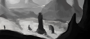 Landscape quick sketch 2 by Miha-Hime