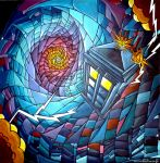 Time Vortex, stained glass style :) by WormholePaintings
