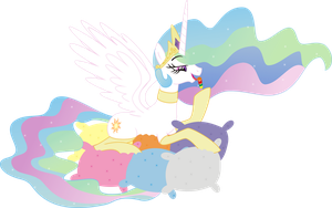 Pincess Celestia delight... PNG by leopurofriki