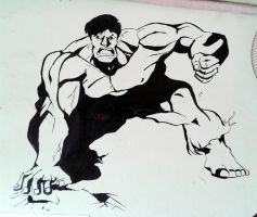 Hulk Smash(wall mural) by chauhan03