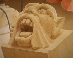 Magdalen College-oxford -carving in progress 3 by gargasik