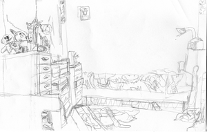 Sketch - My room by ILHI