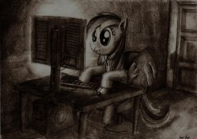 Rainbow Dash is on the Internet by LordGood