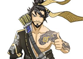 Thumbs up from Hanzo by Fandias