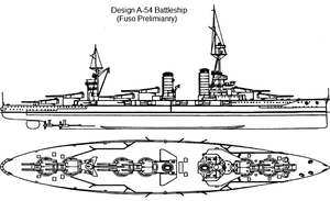 Battleship Design A-54 by Tzoli