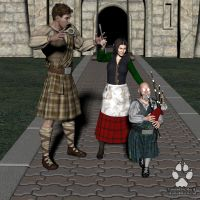 Commission: Kilts for Everyone 3 by Skiriki