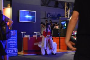 Ahri at Tecno lan gaming. by Candustark