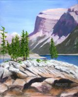 Lake Minnewanka by mbeckett