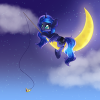 Fishing on the Moon by Rue-Willings
