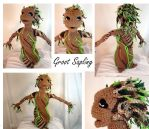 Baby Groot Sapling Plush Amigurumi Stuffed Toy by voxmortuum