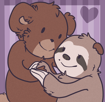teddy loves sloth by paandur