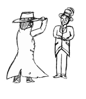 Cowboy and Gentleman by SpaceFishInSpace