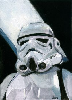 Stormtrooper Star Wars Sketch Card by Stungeon