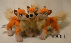 Mini Wolf Plush x 3 by dot-DOLL