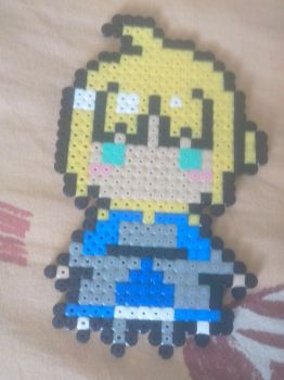 Saber (Fate/Zero and Fate/Stay Night) perler beads by Kracko3D