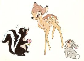 BAMBI AND FRIENDS by FERNL