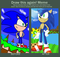 Before And After: Sonic at the Green Hills by SilverTails841