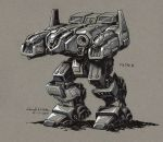 Inktober 2014 #7 Mechwarrior Fafnir by Mecha-Zone