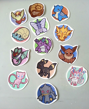Pokemon Stickers by Mad-March