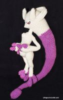New Mewtwo Form Amigurumi by Lithiumcarbonat