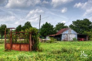 Rusted Fence by AbstractedRealism