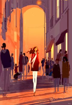 It's in winter, sometime between the afternoon ... by PascalCampion