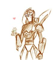 Prowl and Skippy by BrokenDeathAngel