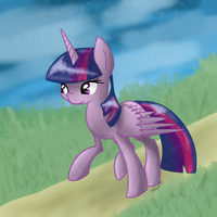 Down this path... alone - Twilight Sparkle by NyxTheFlyingKatFish