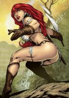Red Sonja - colors by Akeiron