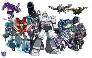 Decepticon G-1 84' groupshot by Dan-the-artguy