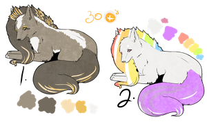 Scene wolf Adopts (Closed) by Yumao-Adopts