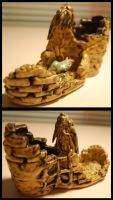 Castle-Boot with Bird Inside by Bewilderbeast