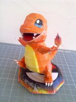 Papercraft - Charmander 03 by ckry