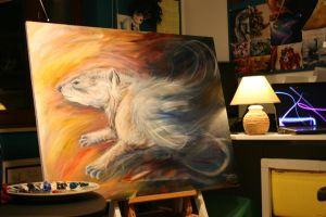 Hyrax Painting Commission by Lyswen