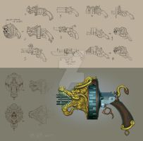 'KungFu: Highimpact' Weapon concept/rendering by the-John-Doe