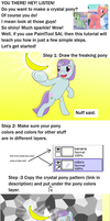 Crystal pony tutorial by AllonsoBronyguy