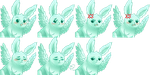 [Rpg Maker Vx Ace] Faceset - Flying Mint Bunny by ImperialFrance