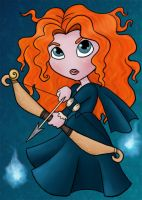 Merida Chibi - ACEO by NikkiWardArt