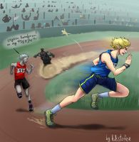 olympic running by Dallamar