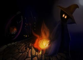 Black Mage vs Ahriman by Atmadog