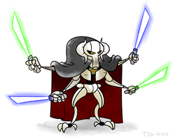 Daily Drawing 002 - General Grievous by tjg-12345