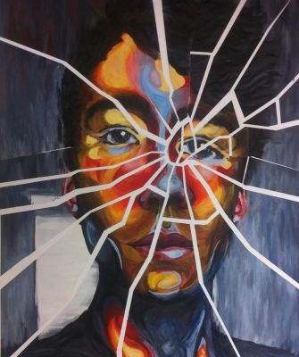 Self-Portrait in Oil Paint by SamSquared