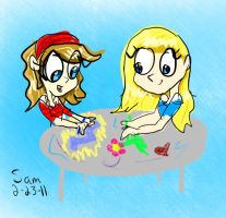 Drawin' on a Chalk Table by alem22
