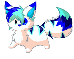 Chubby Chibis - Blue character by FlareAKACuteFlareon