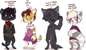 weird anthro adoptables - CLOSED by fqs