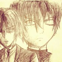 Ciel and his butler by Hiroshinki