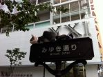 Cats on a street sign in Ginza by Sagitari-Seiza-1213